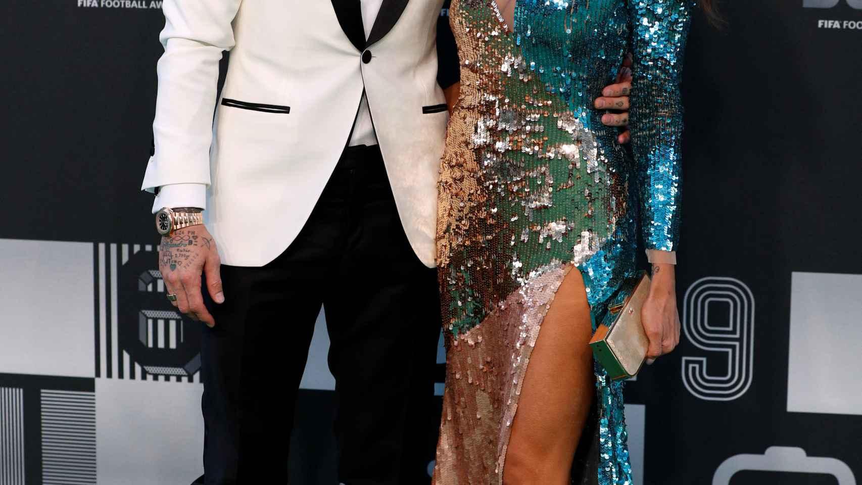 Sergio Ramos y Pilar Rubio, en los premios de The Best de la FIFA