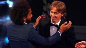 Marcelo felicita a Modric por haber ganado el premio The Best a mejor jugador
