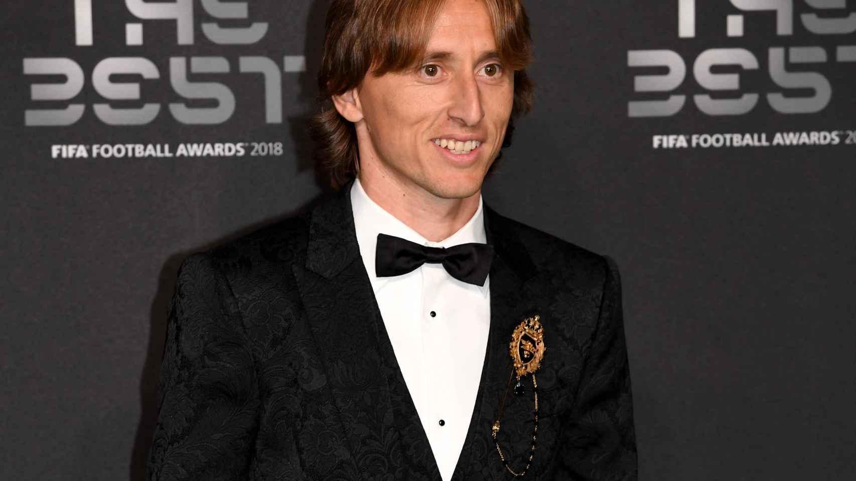 Modric, en la gala de los The Best de la FIFA
