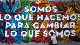 Arte urbano en Lavapiés.