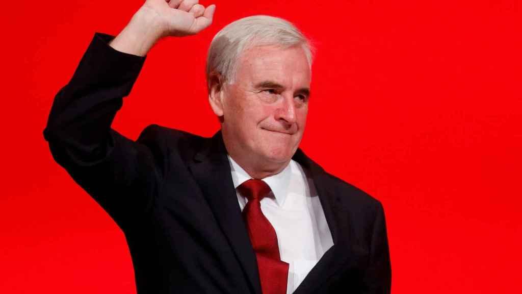 El ministro de Hacienda del Partido Laborista, John McDonnell.