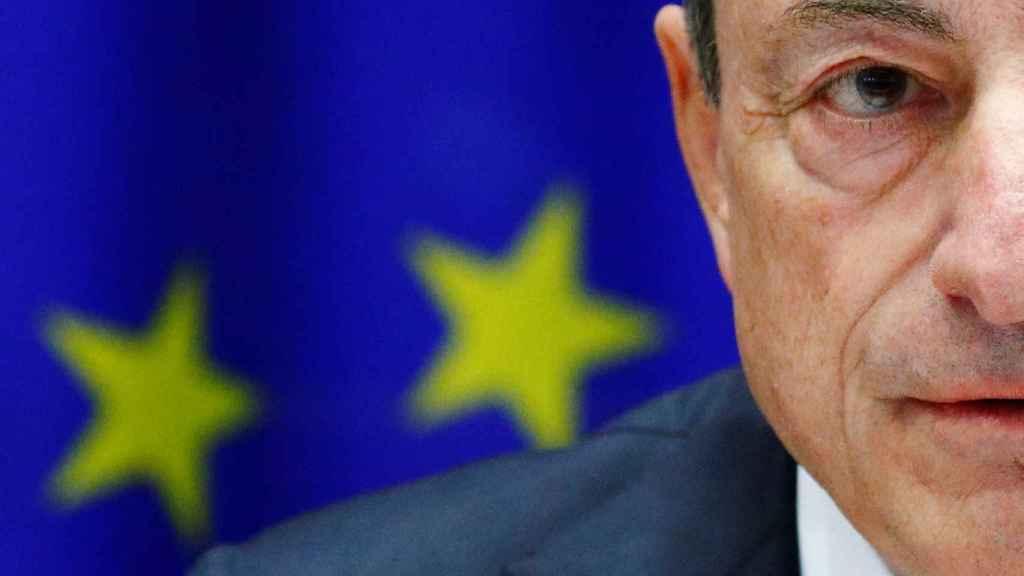 El presidente del BCE, Mario Draghi, durante una comparecencia en la Eurocámara