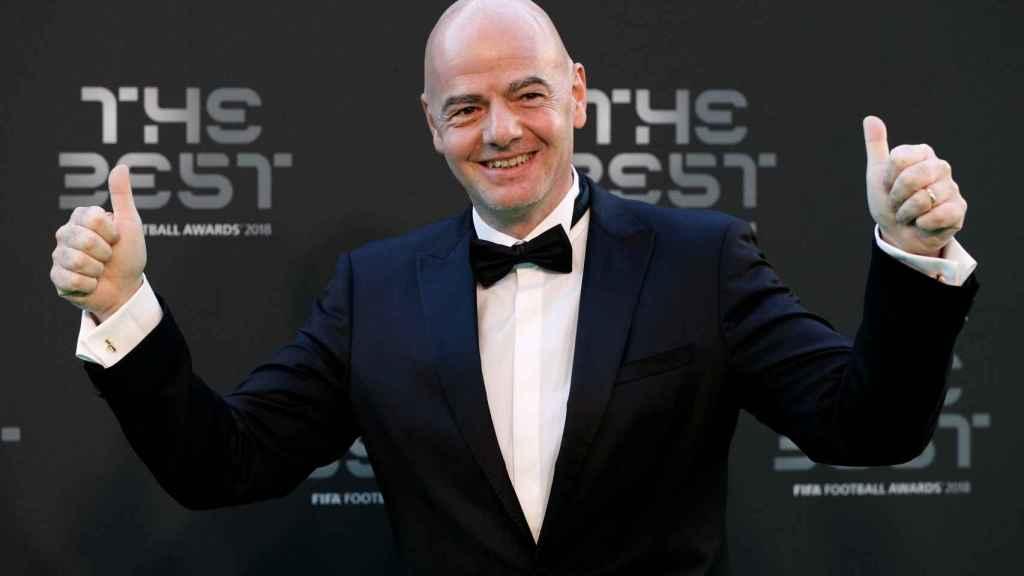 Gianni Infantino, presidente la FIFA, en la gala 'The Best'