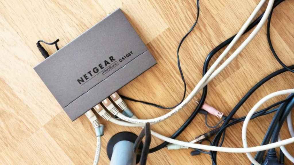 Un router conectado.