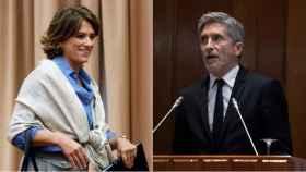 La ministra de Justicia, Dolores Delgado, y el ministro del Interior, Grande-Marlaska