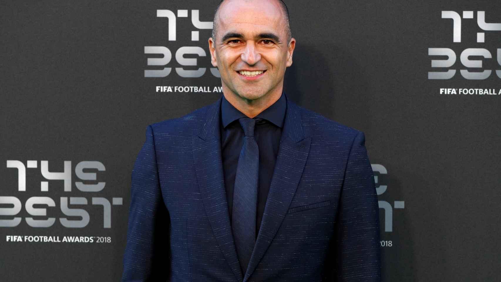 Roberto Martínez en la gala de los Premios The Best
