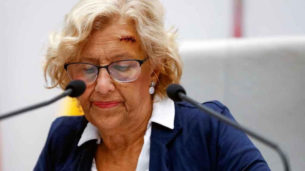 La alcaldesa de Madrid, Manuela Carmena, ha reaparecido en el debate del ayuntamiento.
