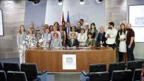 La sala de ruedas de prensa de la Moncloa, con la primera visita a las instalaciones.