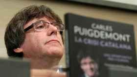 Puigdemont, durante la presentación de su libro en Bruselas