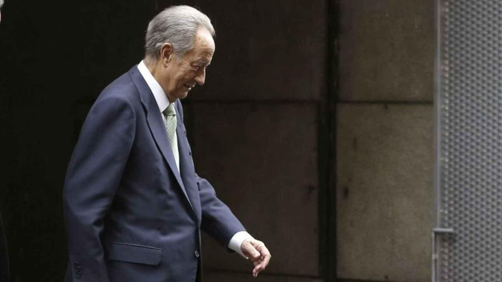 Juan Miguel Villar Mir, a su salida de la Audiencia Nacional.