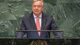 Antonio Guterres en su discurso ante ante la Asamblea General de Naciones Unidas.