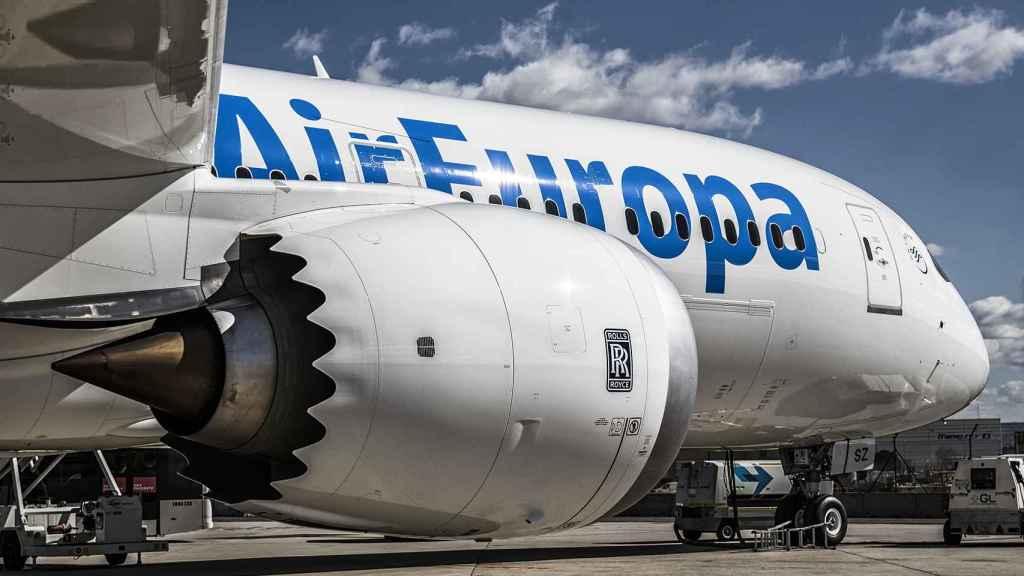 Vista del Boeing 787-9 con el que Air Europa vuela a Buenos Aires.