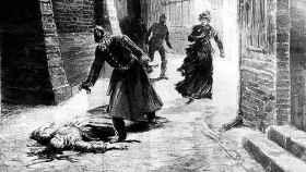 Un dibujo recoge uno de los asesinatos de Jack El Destripador.