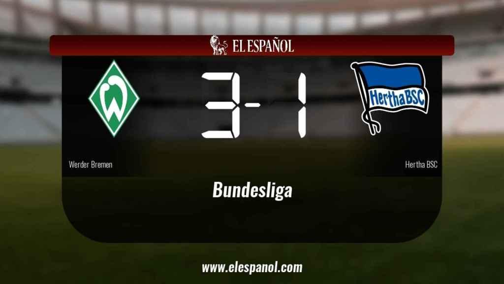 El Werder Bremen derrota en casa al Hertha BSC por 3-1