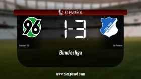 El Hoffenheim doblegó al Hannover 96 por 1-3