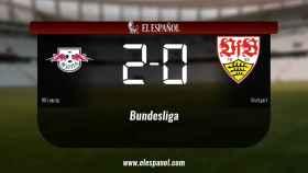 El RB Leipzig derrotó al Stuttgart por 2-0