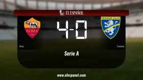 La Roma derrota en casa al Frosinone por 4-0