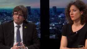 Carles Puigdemont en un momento de la entrevista.