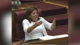 Isabel Bonig, líder del PP valenciano, durante su intervención.