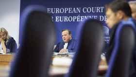 El presidente del Tribunal de Estrasburgo, Guido Raimondi, durante la vista sobre devoluciones en caliente