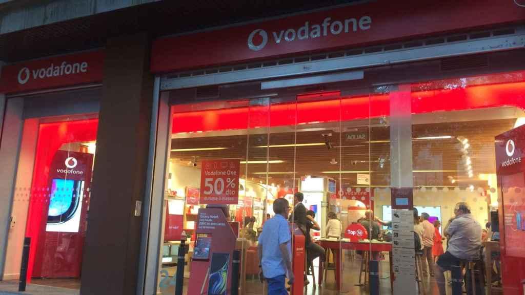 La tienda de Vodafone en la calle Goya 45