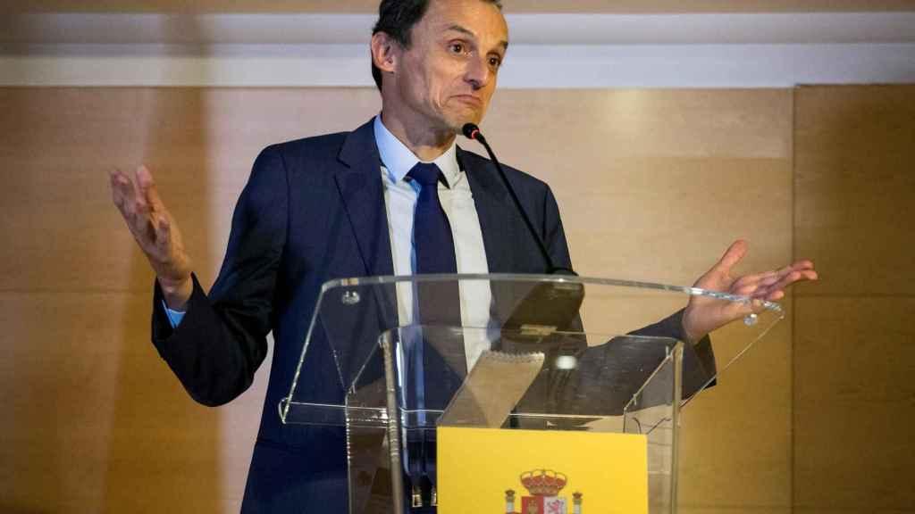 El ministro de Educación, Pedro Duque, este juves.