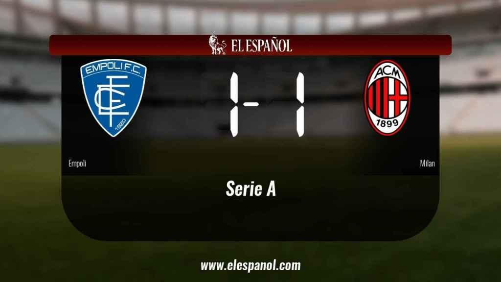 El Empoli y el Milan empatan (1-1)