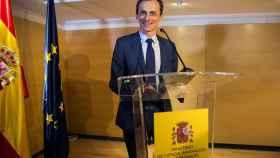 Pedro Duque, este jueves en la sede del Ministerio.