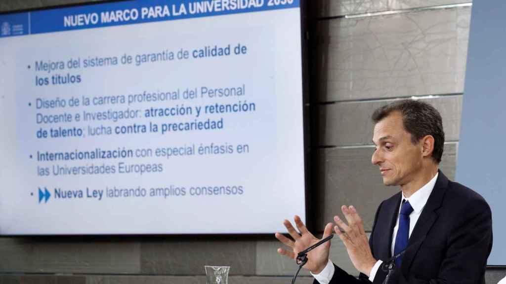 El ministro de Ciencia, Pedro Duque.
