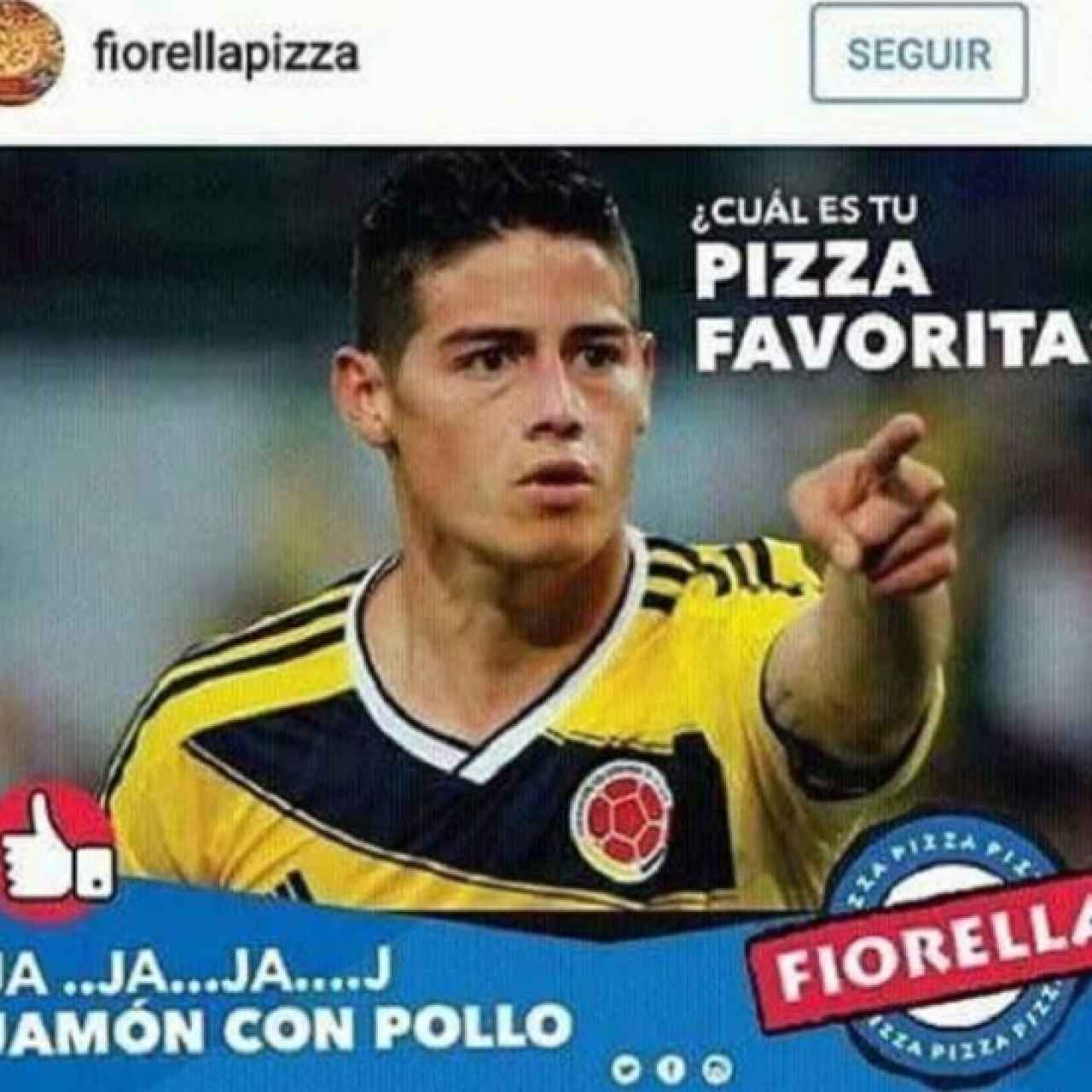 La mofa por parte de una pizzería colombiana.