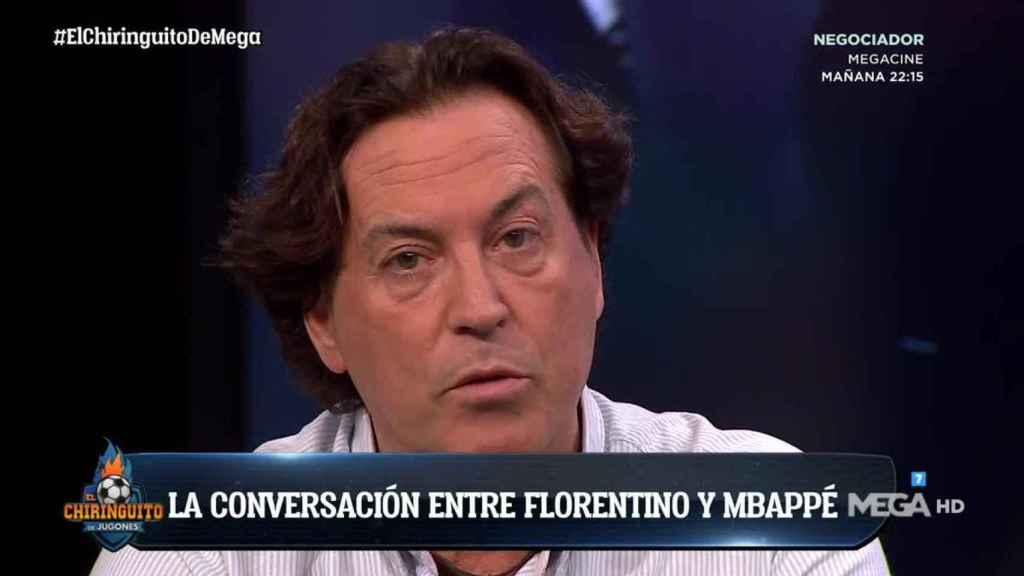 Pipi Estrada en El Chiringuito. Foto: Twitter (@elchiringuitotv)