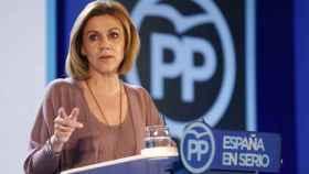 María Dolores de Cospedal. Ministra de Defensa. |