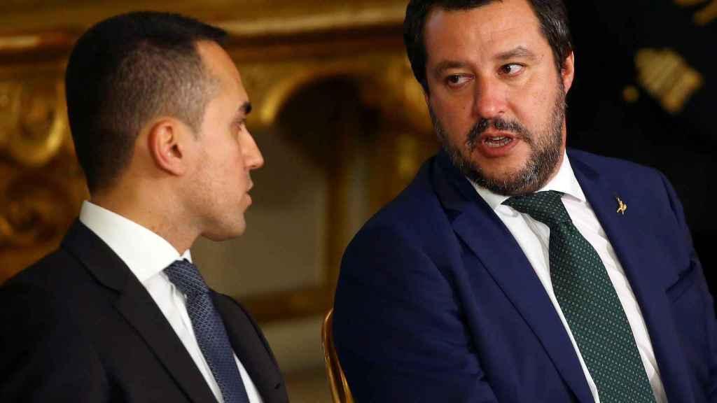 Los líderes del M5E y La Liga, Luigi di Maio y Matteo Salvini
