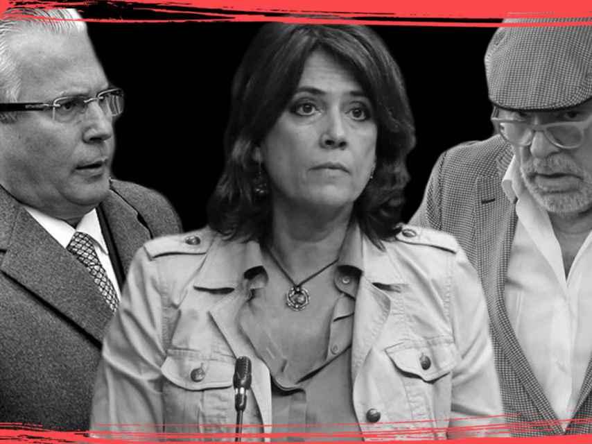 Baltasar Garzón, Dolores Delgado y Villarejo.