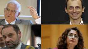 Borrell y Duque cumulan activos por más de 4 millones. Ábalos y Montero deben dinero al banco.