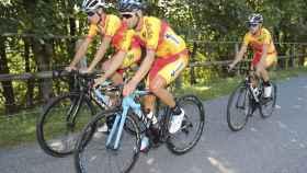 Alejando Valverde, entrenando en Innsbruk antes del Mundial