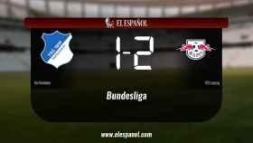 El RB Leipzig derrotó al Hoffenheim por 1-2