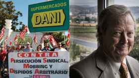 Los trabajadores de la empresa se han manifestado en contra de las condiciones laborales que viven. A la derecha, el dueño, Dani.