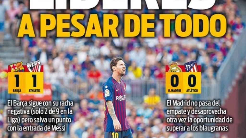 La portada del diario SPORT (30/09/2018)