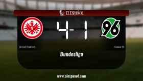 Tres puntos para el equipo local: Eintracht Frankfurt 4-1 Hannover 96