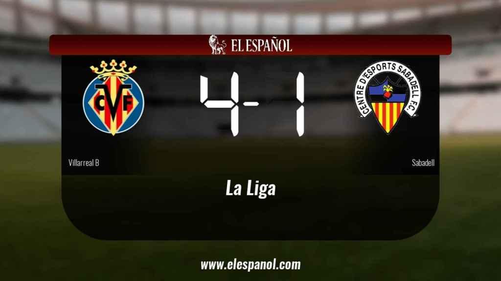 Victoria 4-1 del Villarreal B frente al Sabadell