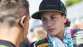 La piloto española Ana Carrasco, preparada para una carrera de esta temporada.