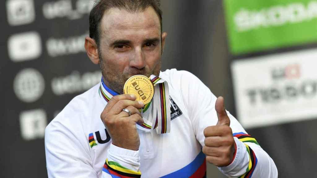 Alejando Valverde, campeón del mundo de ciclismo en ruta