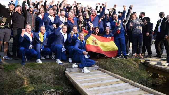 El equipo europeo celebra su victoria en la Ryder Cup