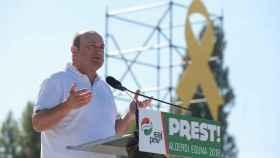 El presidente del EBB del PNV, Andoni Ortuzar, en un acto este domingo.