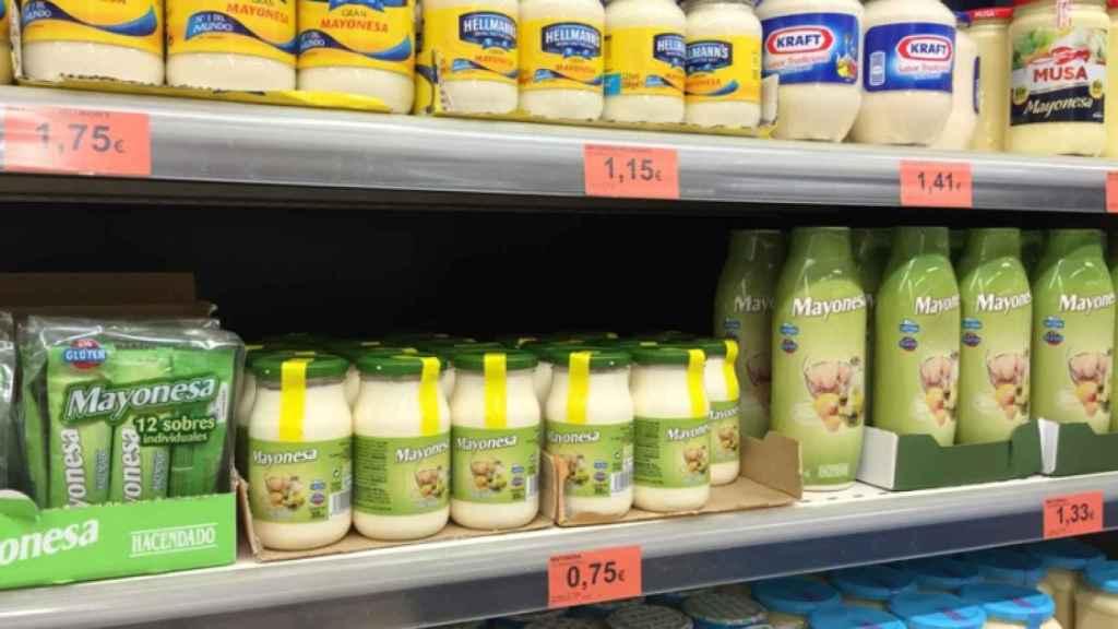 Mayonesa marca Hacendado en los supermercados Mercadona (revista revistaalmaceite.com)