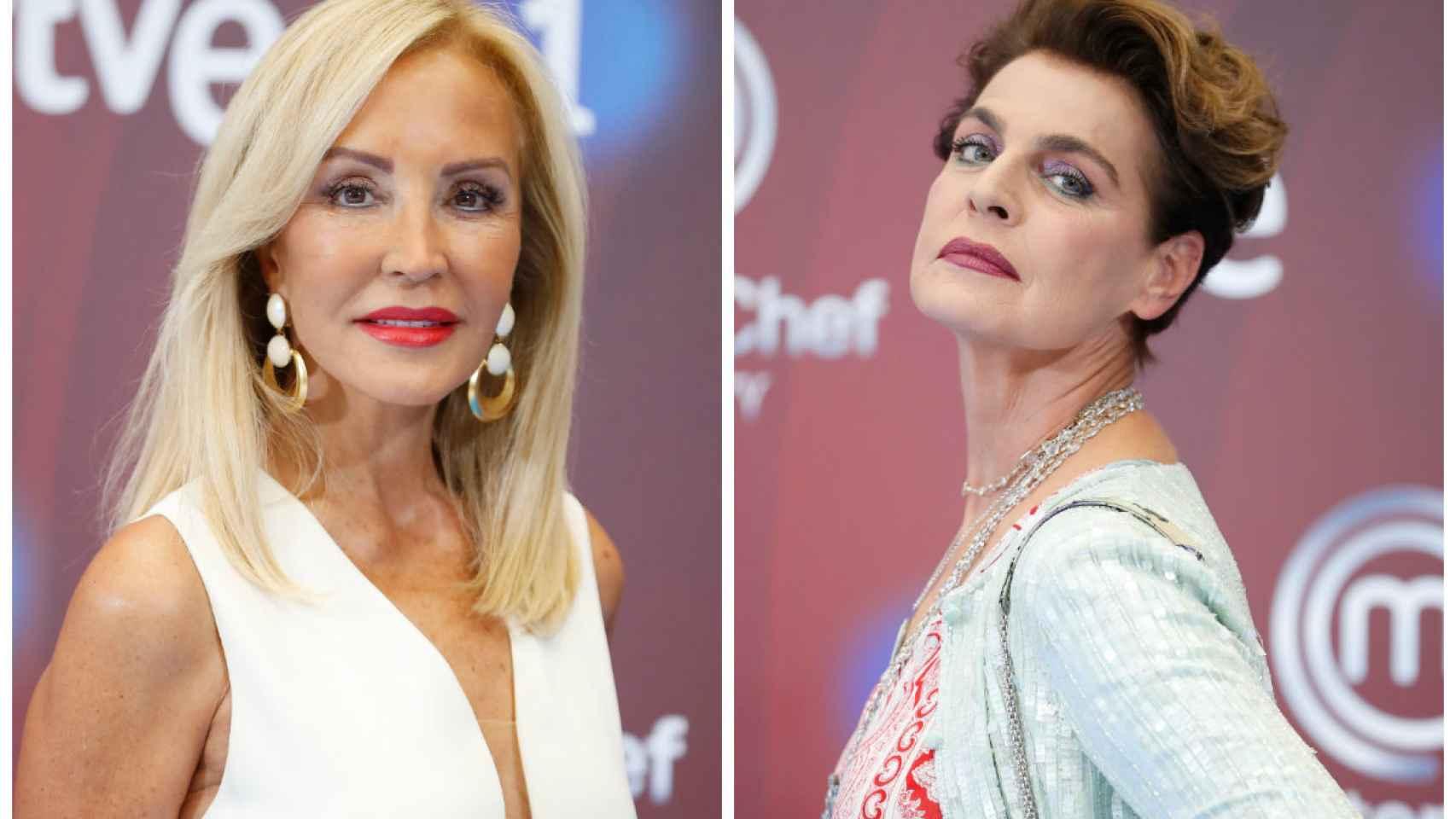 Carmen Lomana y Antonia Dell' Atte en montaje JALEOS.
