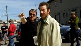 Vince Gilligan en el rodaje de Breaking Bad.