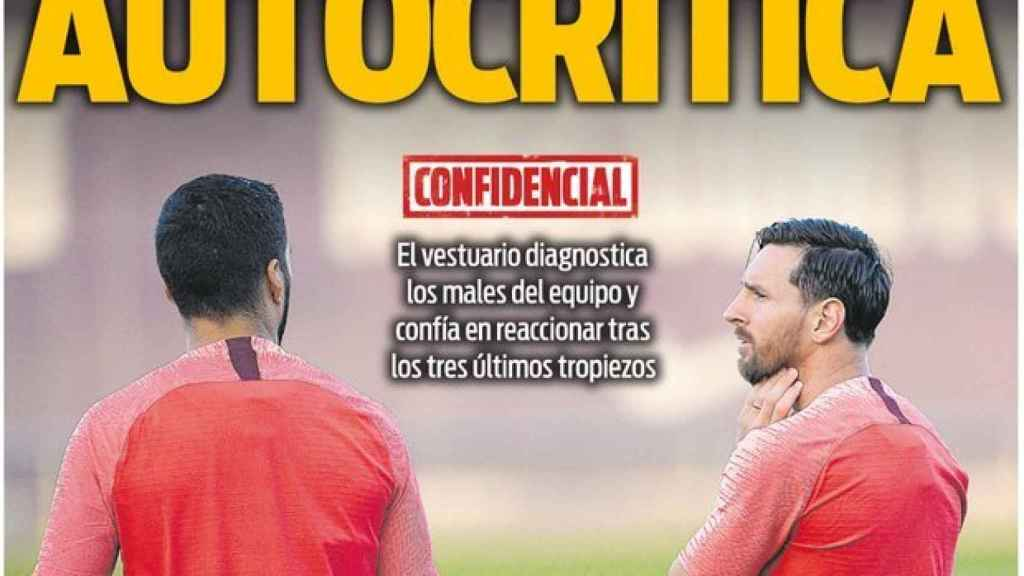 La portada del diario Sport (01/10/2018)
