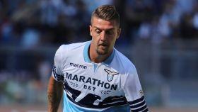 Milinkovic-Savic, en el derbi entre la Lazio y la Roma